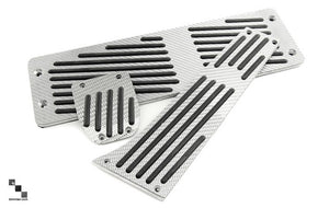 Silver Carbon Fiber Footrest for BMW E46, E8X 1 Series, E9X 3 Series