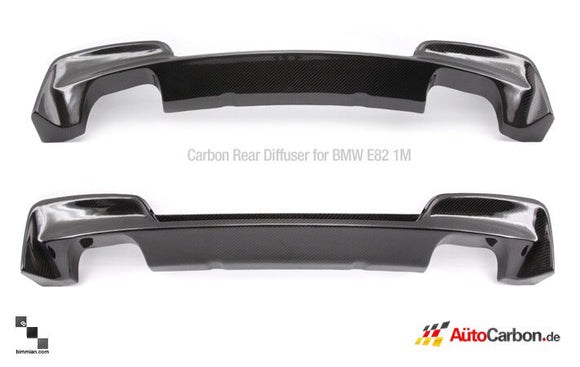 Carbon Fiber Rear Diffuser for BMW E82 1M