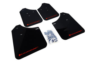 Rally Armor Front & Rear Mud Flaps – Black/Red Logo – '98 – 02 Subaru Forester
