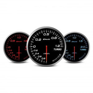 Defi Advance BF Series USDM 60mm fuel press gauge – red