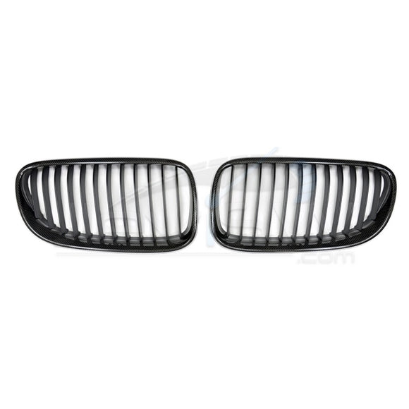 Black Kidney Grilles for BMW E90 3 Series (LCI)