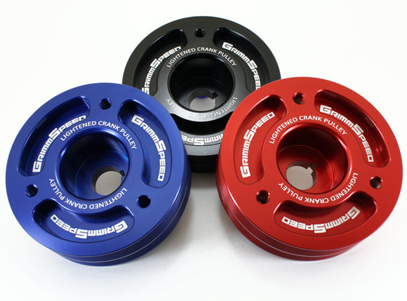 Grimspeed Lightweight Crank Pulley Red – Subaru All EJ Engines