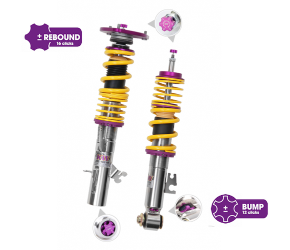 KW Clubsport 2 way Coilovers – BMW 3 Series F30 4 Series F32 2wd w/o EDC