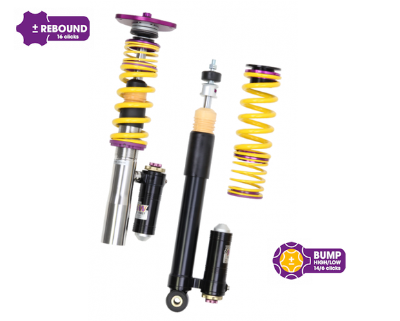 KW Clubsport 3 Way Coilovers – Porsche 911 (996) GT2