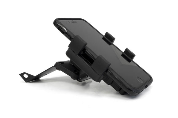 PortaGrip Universal Phone Holder with T-Button Tipper with Adjustment Wheel that adapts to any AMPS compatible mount