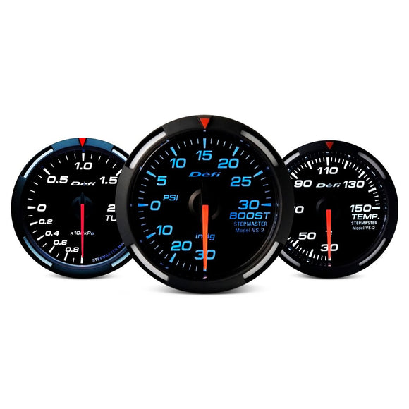 Defi Racer Series 52mm temp gauge – blue