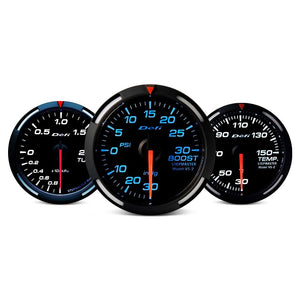 Defi Racer Series 52mm volt gauge – blue