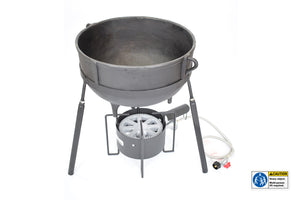 Cast Iron 10-gallon Jambalaya Pot with Stand 7410