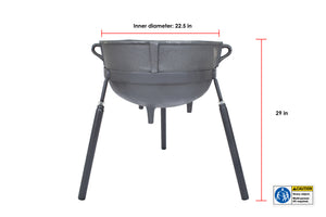 Cast Iron 18-gallon Jambalaya Pot with Stand 7418