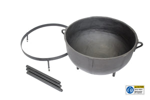 Cast Iron 30-gallon Jambalaya Pot with Stand 7430