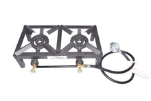 Double Burner Angle Iron Camp Stove with CSA Listed Regulator and 4ft Hose [SA2200]
