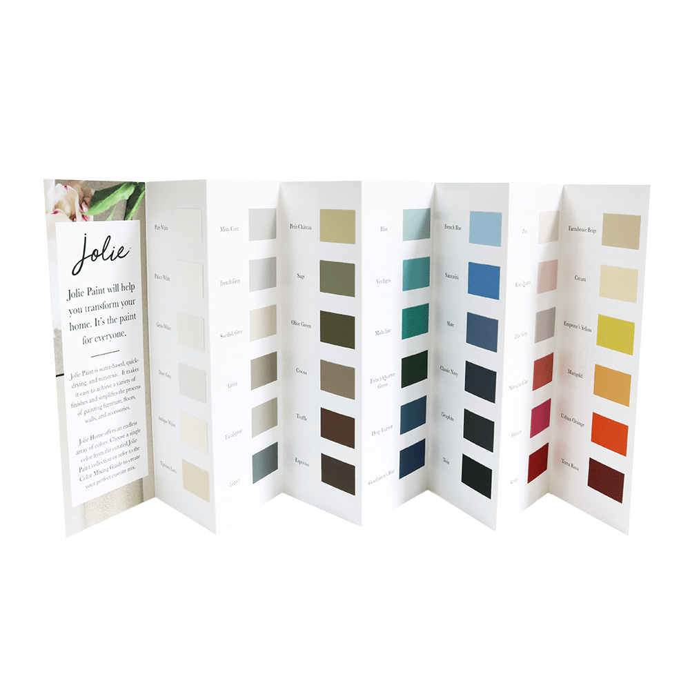 Jolie Paint Color Chart - painted chip - Tynt Paint Studio
