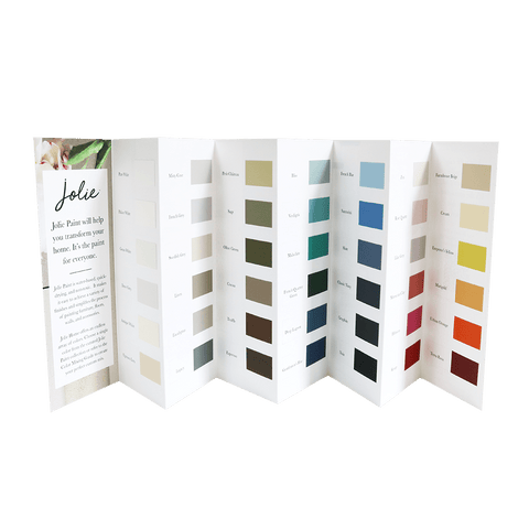 Jolie Paint Color Chart - painted chip