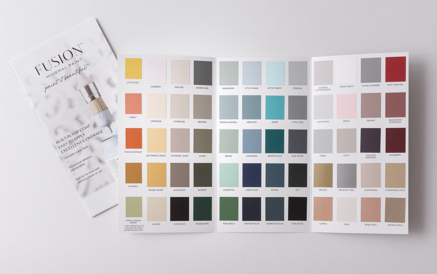 Fusion Color Chart - painted chip - Tynt Paint Studio