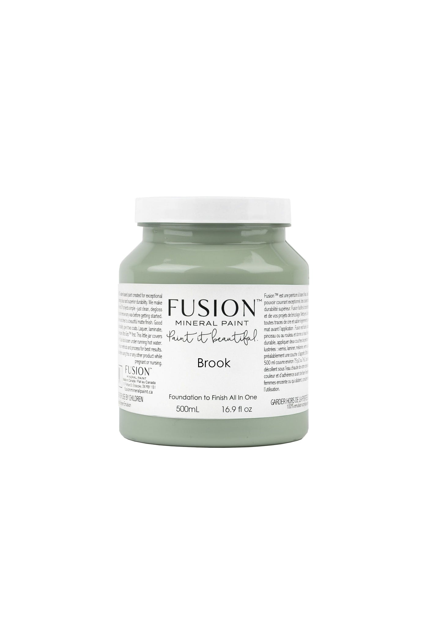 Paint it Beautiful Brook Fusion Mineral Paint pint TYNT Paint Studio