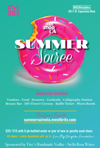 Summer Charity Soiree Sunday July 15th 12pm-4pm
