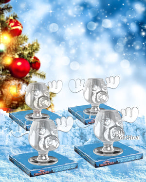 4 x Moose Shot Mini Elchglas (Acryl) Christmas Vacation - griswoldshop