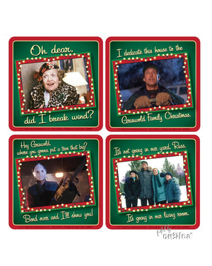 4er Set Glas Untersetzer Christmas Vacation - griswoldshop