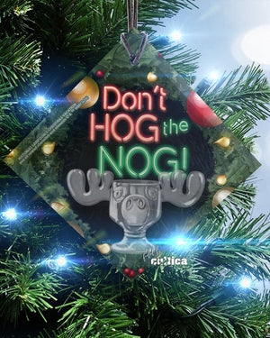Griswold Christmas Glas Ornament Hog the Nog - griswoldshop