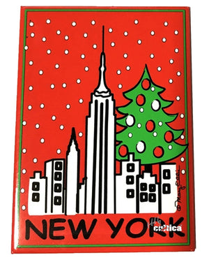 New York 5th Avenue Christmas Magnet - griswoldshop