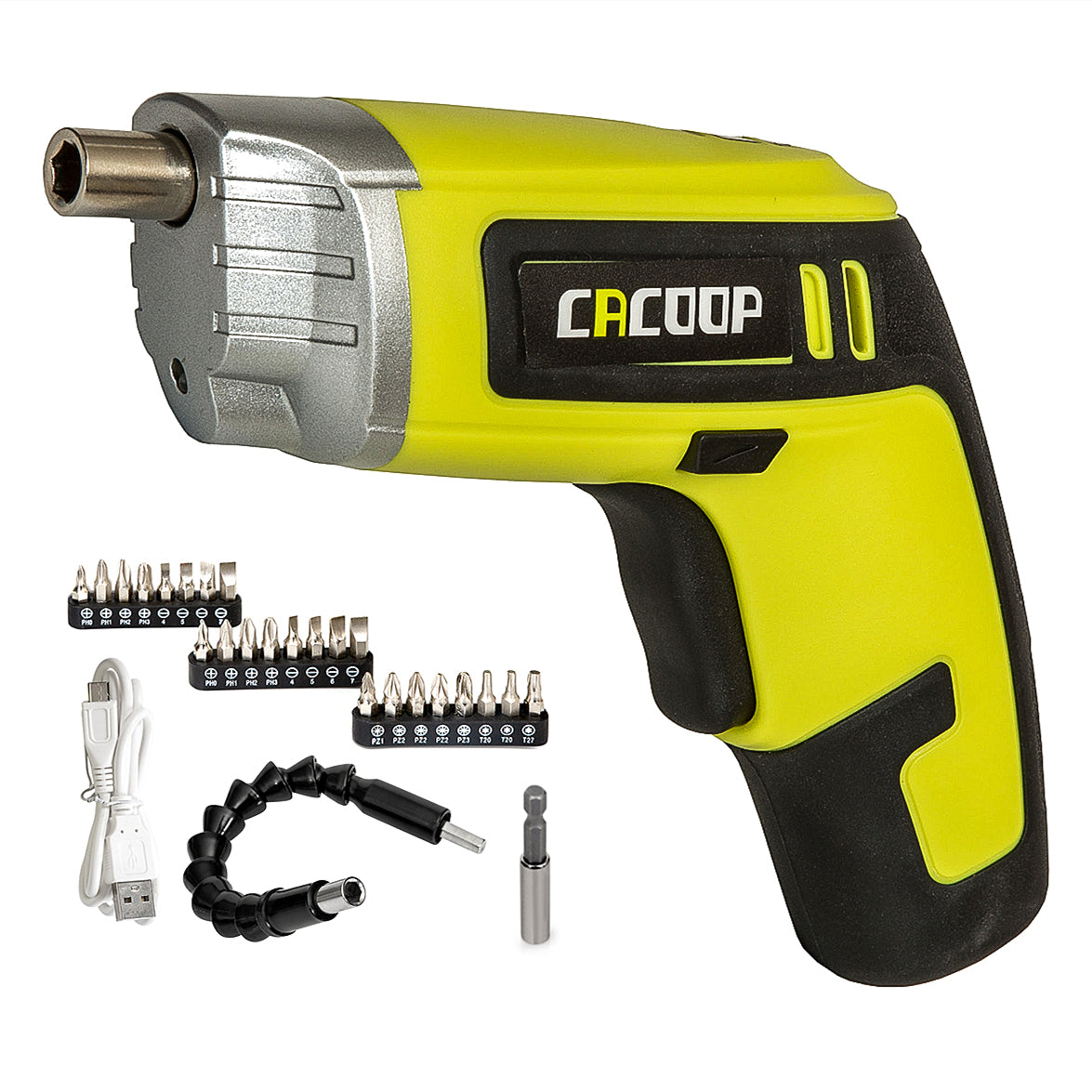 Electric Cordless Screwdriver Set Rechargeable 4V - CACOOP