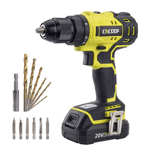 Brushless Cordless Drill Driver, 2-Variable Speed 20V - CACOOP
