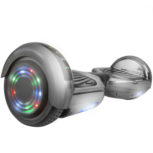Gyrocopters PRO Hoverboard - UL 2272 Certified with Bluetooth and LED lights (Chrome Black)