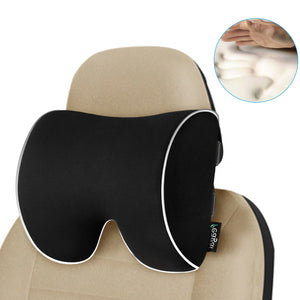 Feagar Car Seat Neck Pillow, Headrest Cushion for Neck Pain Relief&Cervical Support with 2 Adjustable Straps and Washable Cover,100% Pure Memory Foam and Ergonomic Design