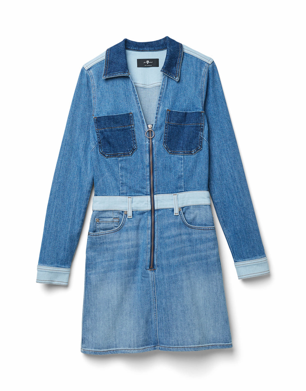 7 For All Mankind Patchwork Dress