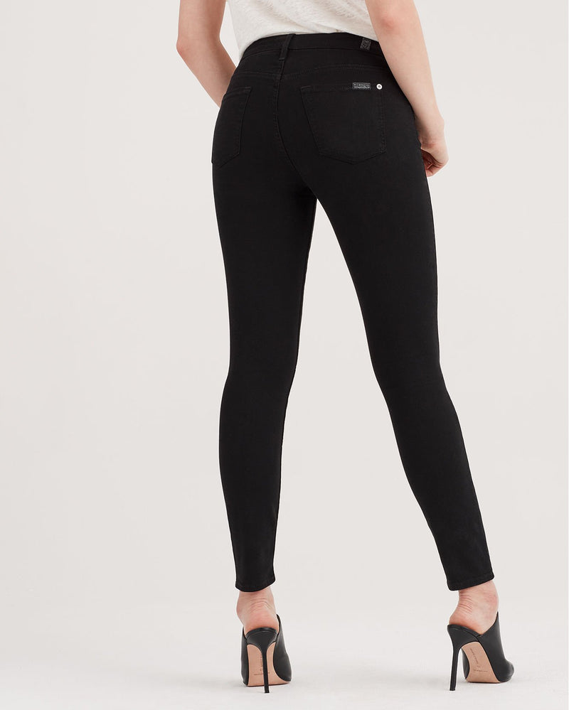 7 For All Mankind Ankle Skinny Black Jeans