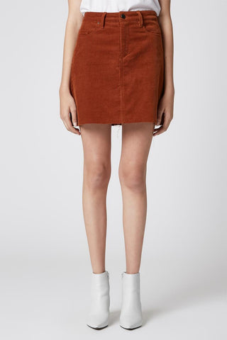 Mid Length Drape Pencil Cut Skirt