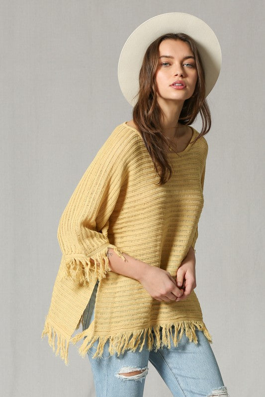 Quarter Sleeve Knitted Tunic