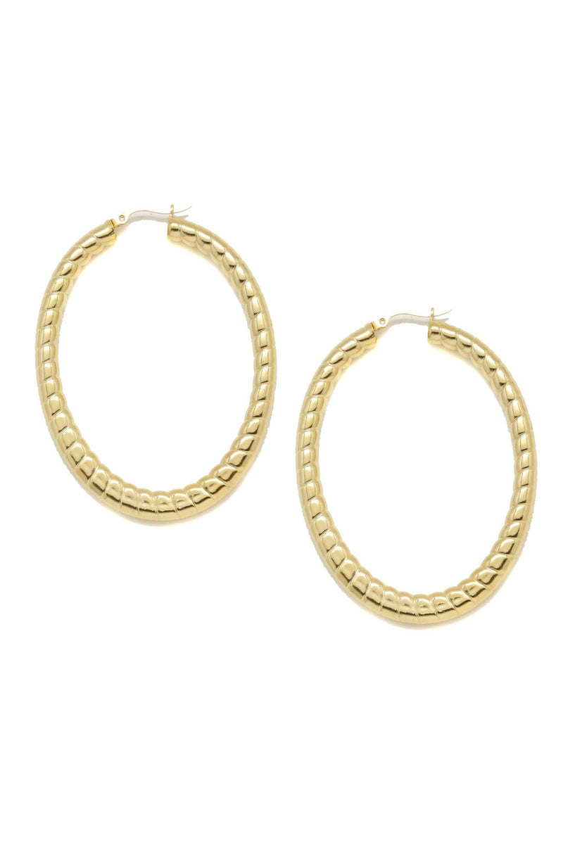 Be A Classic Oval Hoop