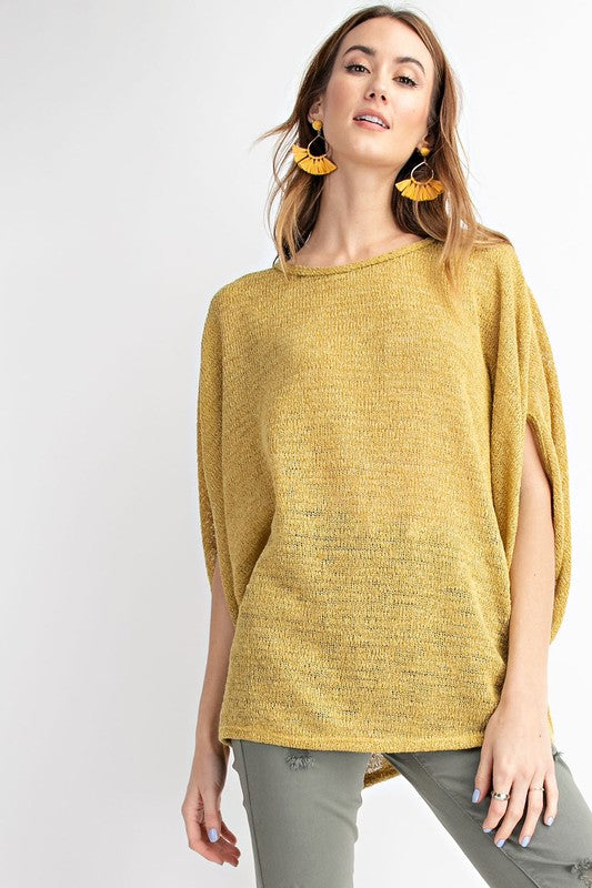LIGHT DOLMAN SWEATER KNIT TOP