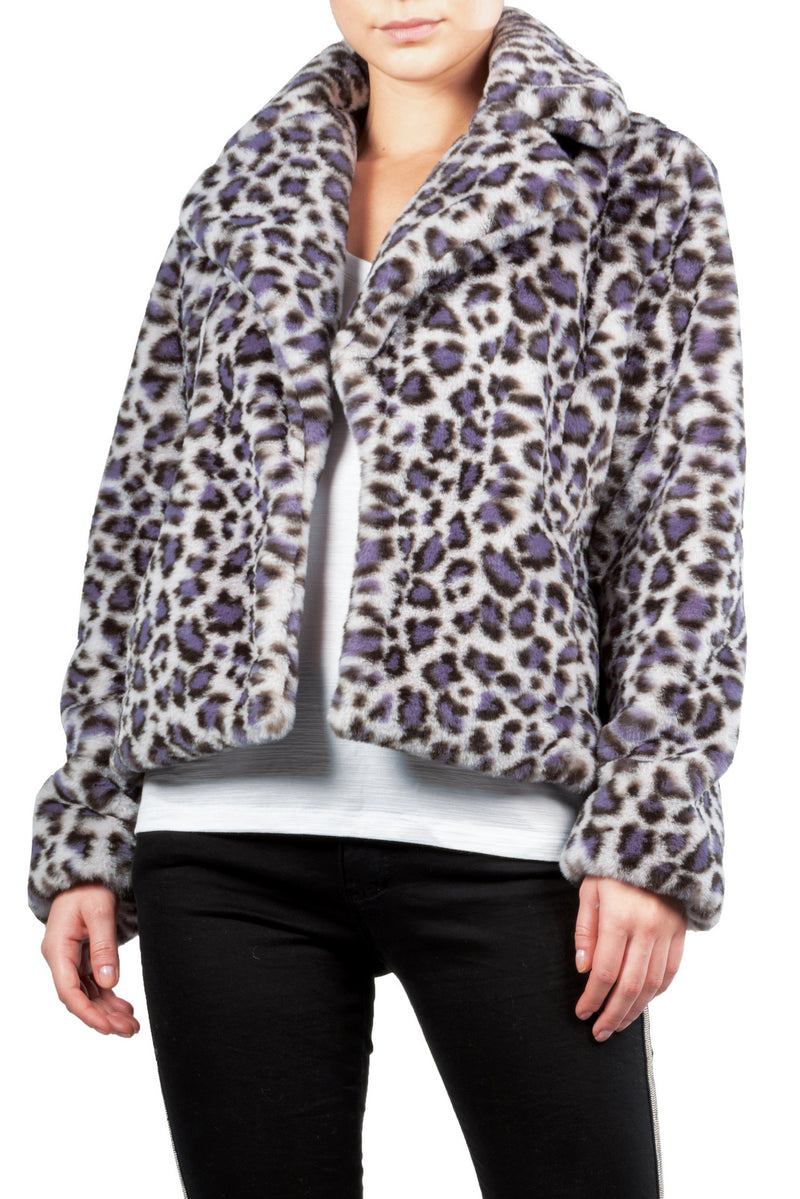 Grey Leopard Jacket