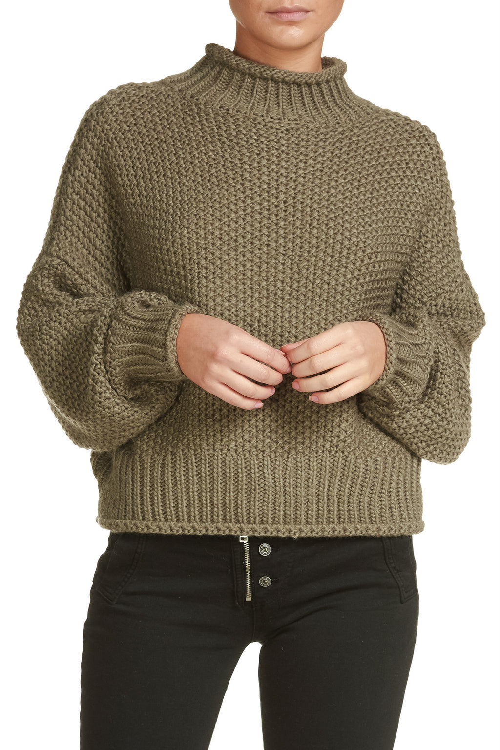 Taupe Turtle Neck Sweater