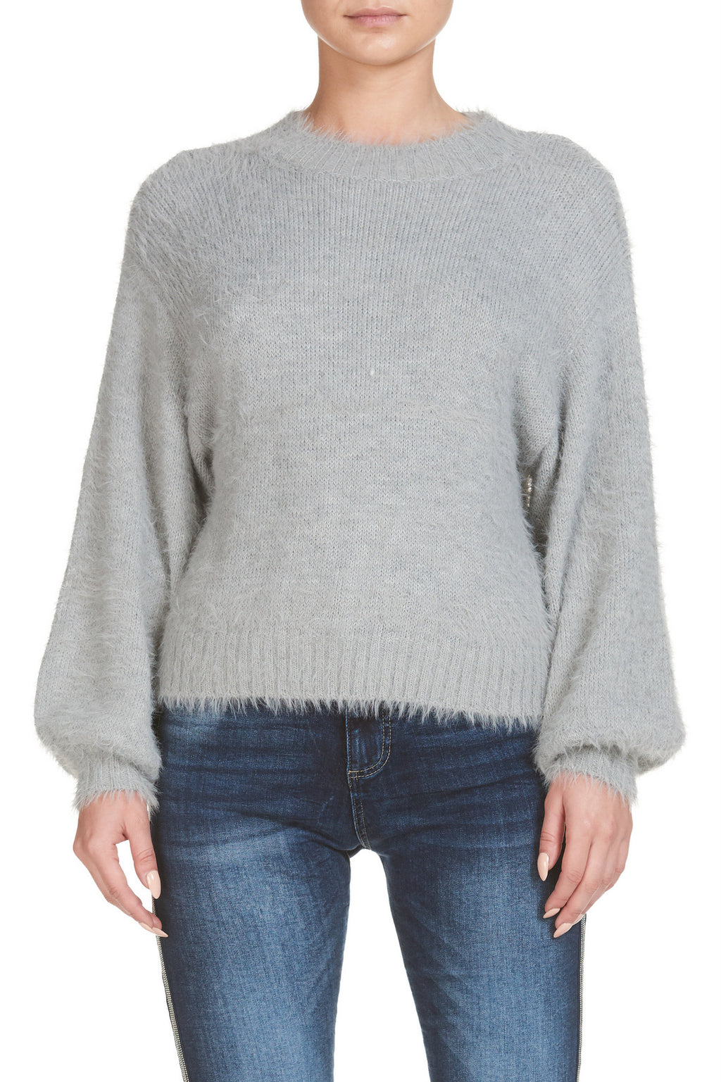 Grey Round Neck Sweater