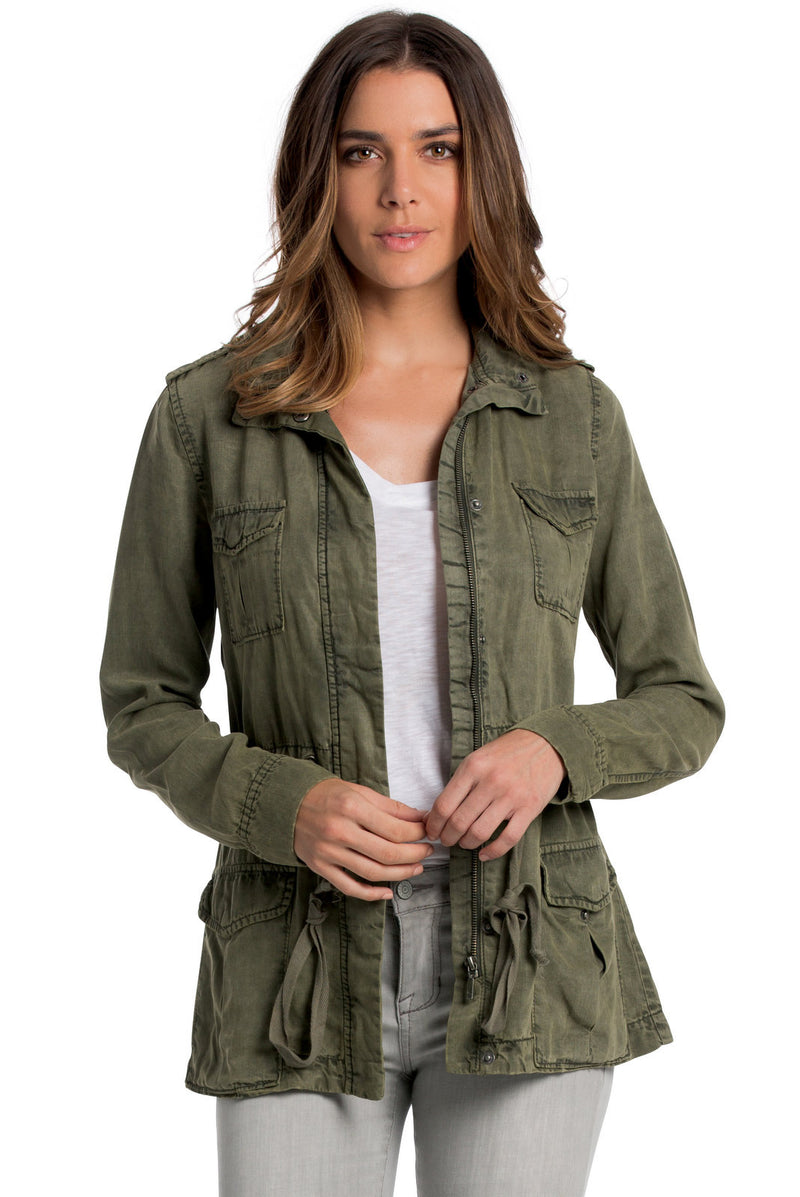 Jacket with Adjust Tie Waist