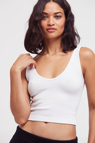 Free People Ribbed V-Neck Brami