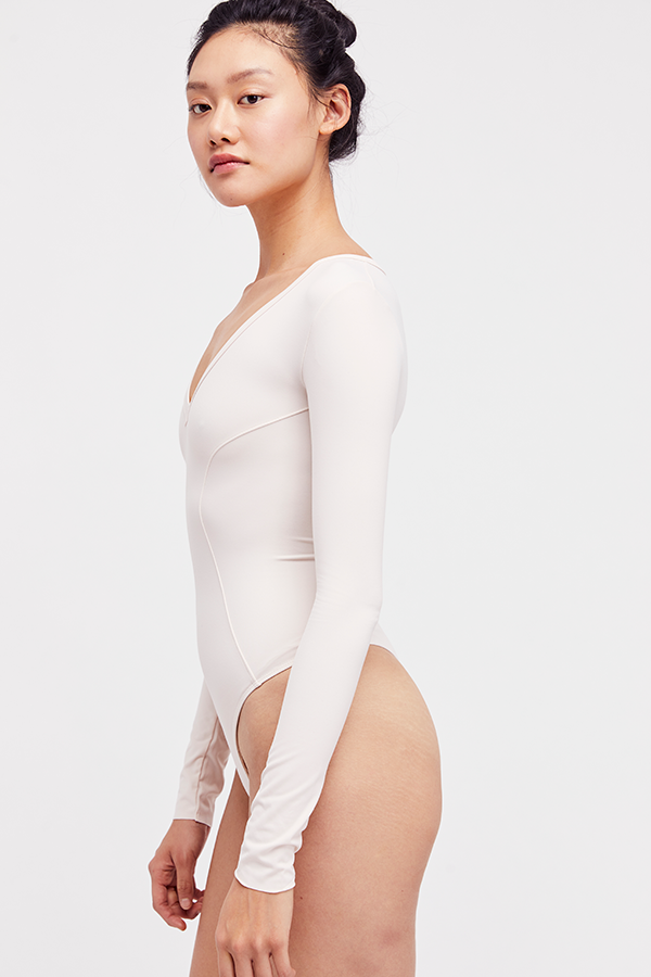 Free People Super Soft Deep V Bodysuit