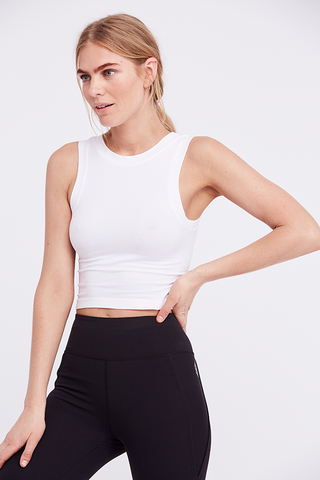 Joah Brown Rah Rah Crop Top Hacci