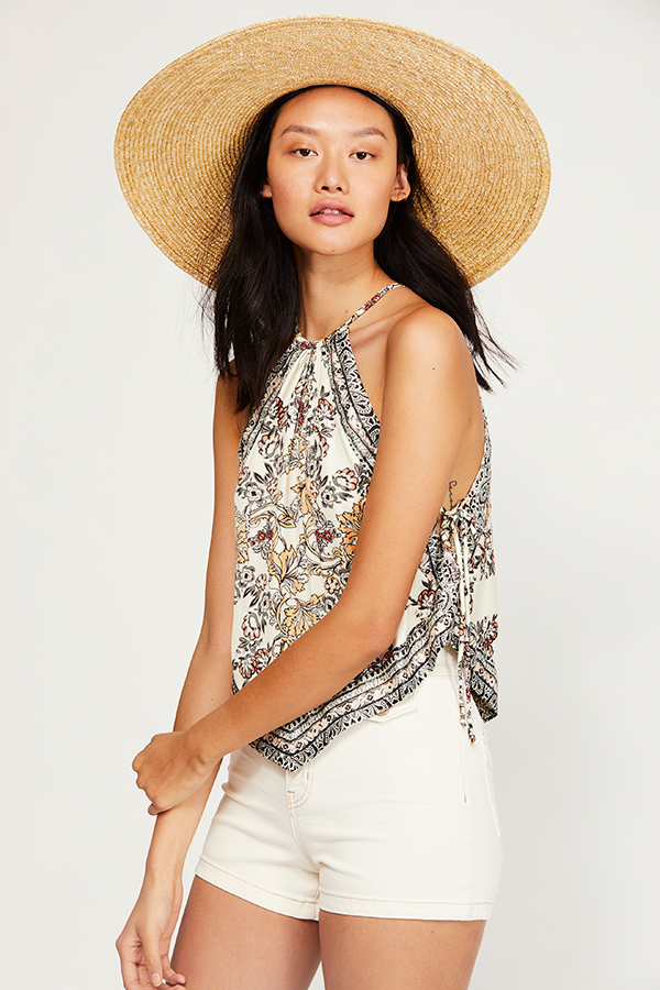 Free People Sofia Printed Halter Top