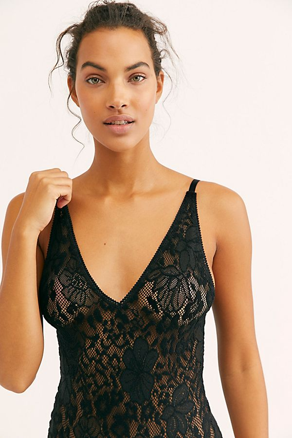 Free People Live It Up Lace Bodysuit