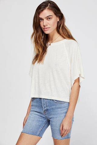 Crepe Cut Short Sleeve Top