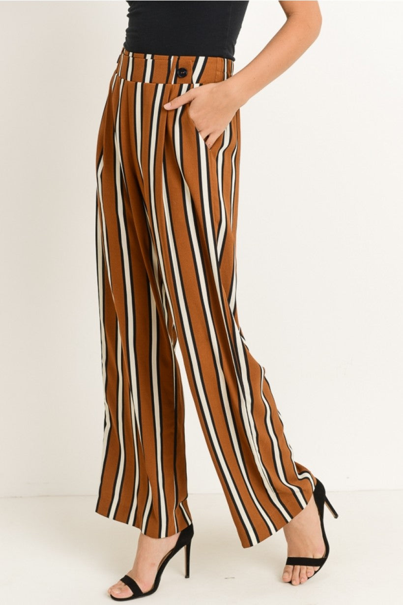 Stripe Straight Leg Pants