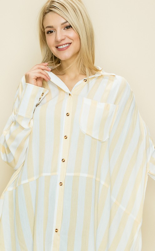 Striped Button Down Shirt