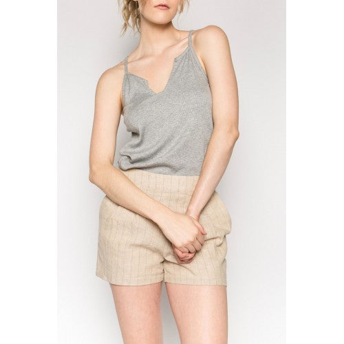 Split Center Ribbed Knit Cami
