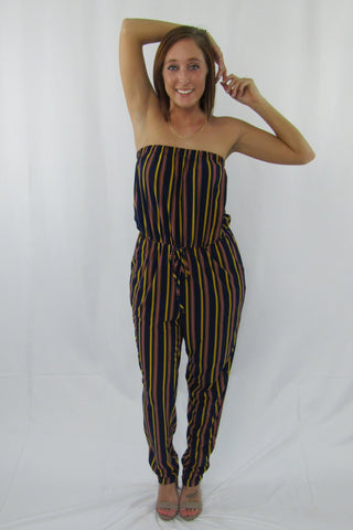 Striped Oversized Jumpsuit