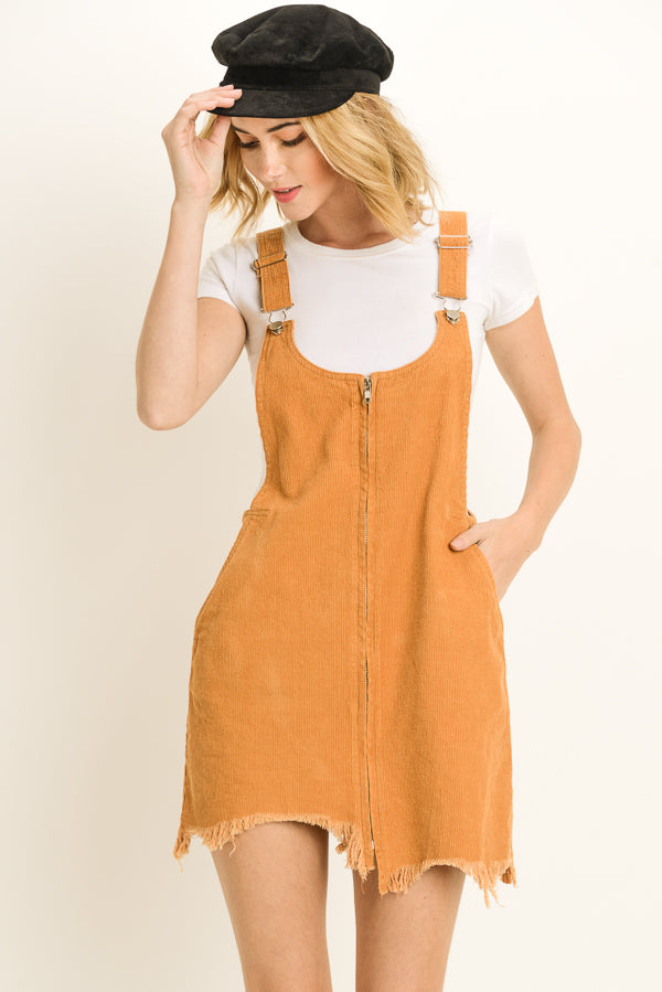 Overall Dress with Front Zip