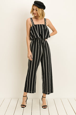 Loose Fit Sleeveless Romper Jumpsuits with Pockets